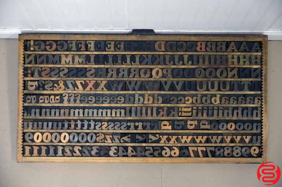 Lot #49: Wood Type Font Letterpress Caps and Lowercase – 18