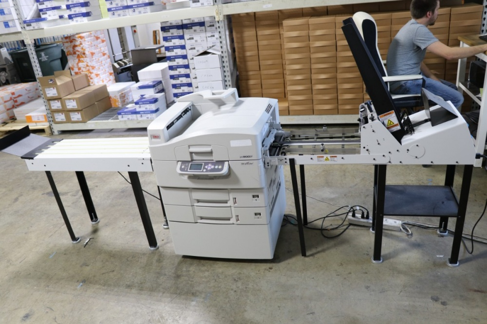 Lot #6: Oki Pro 900DP Envelope Press with Fiery Command Workstation